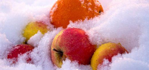 frutta innevata